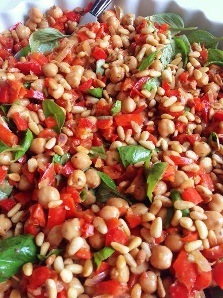 kikærtesalat med peberfrugt
