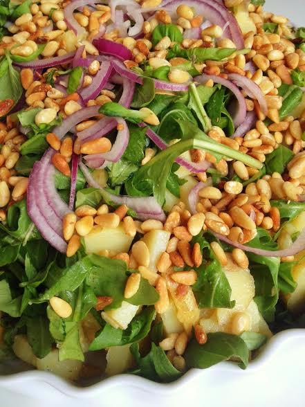 salat med kartofler