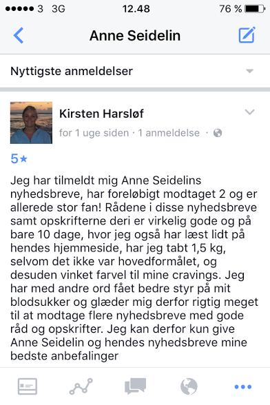 Anmeldelse FB Kirsten