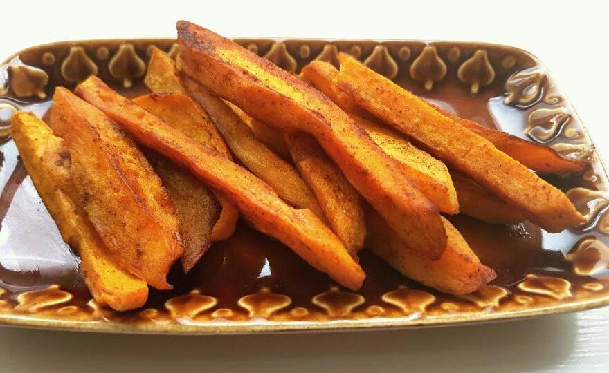 Smørstegte fritter af søde kartofler – keto og religion